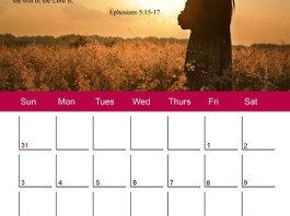 Godly Ladies January 2016 Calendar
