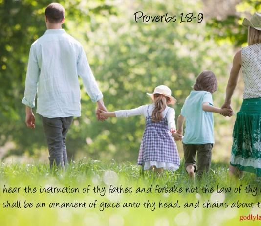 Proverbs 1:8-9 KJV