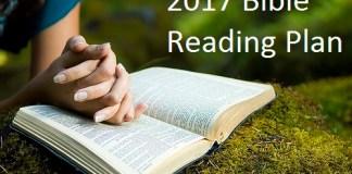 2017 Bible Reading Plan