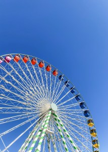 7 Healthy Steps to Submitting to God. Roller coaster amongst the blue sky.
