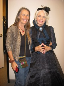 Bonnie and Jeanie In costume as the anthropologist and the GODMother