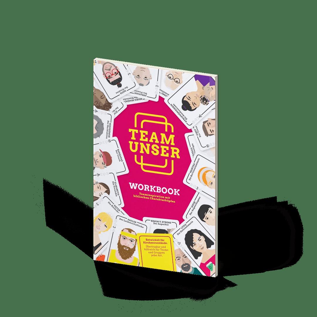 Team Unser, godnews, Teamentwicklung, Workbook, Teaminspiration, biblische Charakterköpfe, Toolbox, Vertiefung