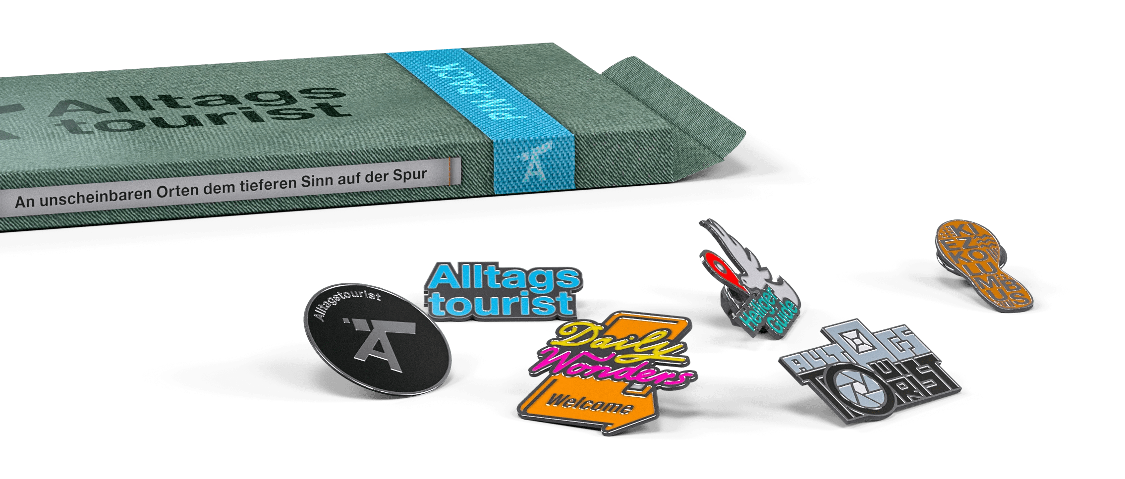 Alltagstourist, Pin, daily wonder, heiliger guide, kiezkolumbus