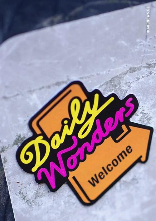 Alltagstourist, Daily Wonders welcome, Goodies, Eva Jung, Zitat