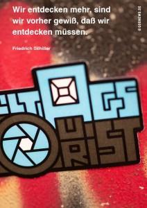 Alltagstourist, Goodies, Eva Jung, Sticker, Zitat