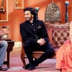 Ranveer Singh Deepika Padukone on the Sets of Comedy Nights with Kapil