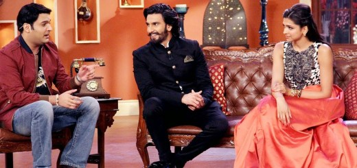 Ranveer Singh Deepika Padukone on the Sets of Comedy Nights with Kapil