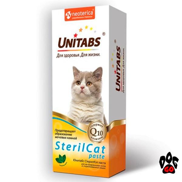 Unitabs Steril Cat паста Витамины для кастрированных котов и стерилизованных кошек 120 мл.