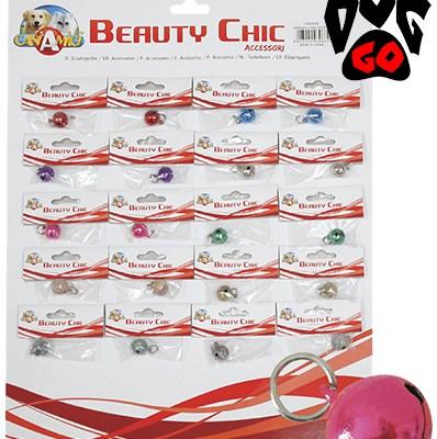 Колокольчик на ошейник для собак CROCI 13мм, 1шт (10 цветов, 20шт на планшете)