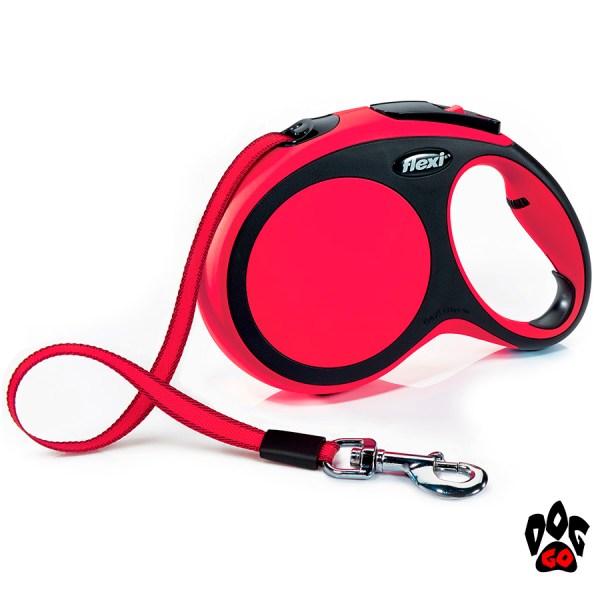 Рулетка FLEXI New Comfort L, 8 метров, до 50 кг, лента, красный
