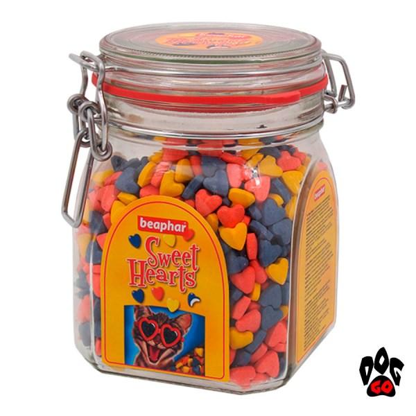 БЕАФАР витамины для кошек Сердечки Sweethearts, стекло, 1200 шт