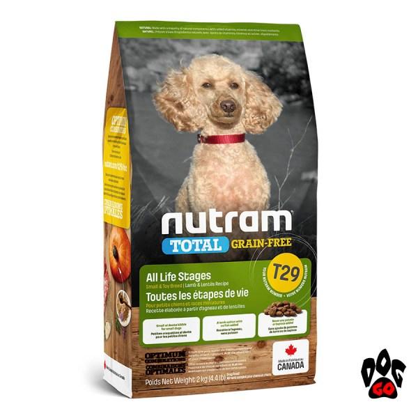 T29 NUTRAM. холистик корм для мелких собак, БЕЗЗЛАКОВЫЙ, ягненок, 2 кг