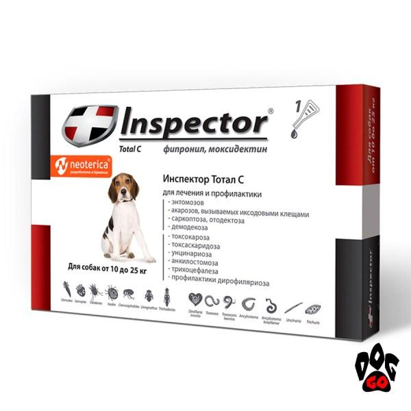 Инспектор Капли на холку для собак 10-25 кг Inspector Total C