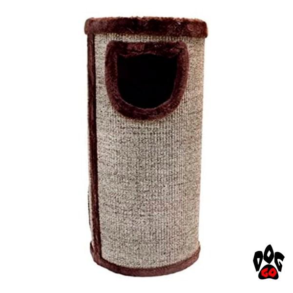 Когтеточка для кошек CROCI Cat Tower, сезаль+плюш, 34x34x70 см