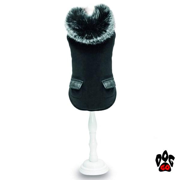 Куртка с мехом для собак CROCI DARK KNIGHT, черный-1