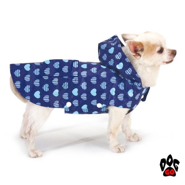Плащ-дождевик для собак CROCI BLUE HEARTS-1