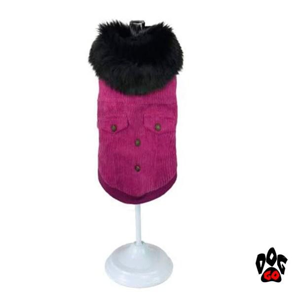 Одежда для собак с мехом CROCI PINK VELVET-1