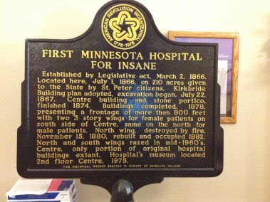 First MN hospital for insane