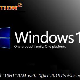 Windows 10 Pro 19H1 v1903 Build 18362.295 x64 incl Office 2019 x64 August 2019