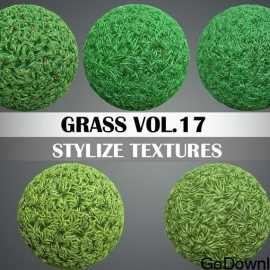 CGTrader Stylized Grass Vol. 17 Hand Painted Texture Pack Free Download