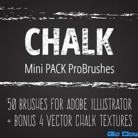 CreativeMarket Mini Pack vector Chalk Brushes Free Download