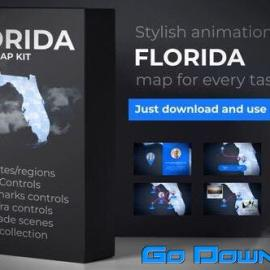 Videohive Florida Map – Florida Map Kit Free Download