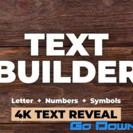 Videohive Text Builder Free Download