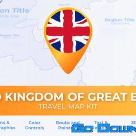 Videohive United Kingdom of Great Britain Map – United Kingdom Travel Map Free Download