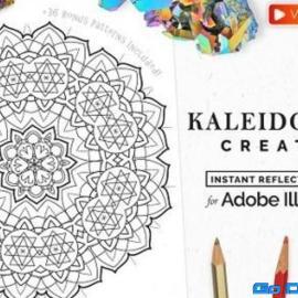 Vector Kaleidoscope for Adobe Illustrator Free Download