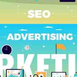 Digital Marketing Concept With Online Advertising Media Symbols Flat Free Download