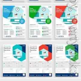Medical flyer vector poster, brochure cover design layout background Free Download