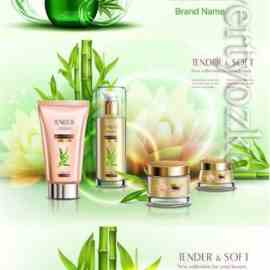 Realistic vector cosmetic products Free Download
