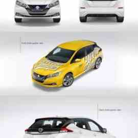 Electric Compact Car Mockup Pack 67818 Free Download