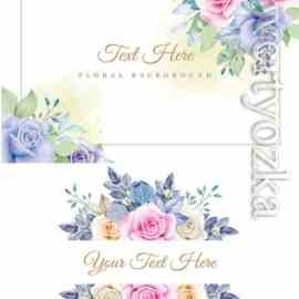 Elegant floral frame with beautiful floral watercolor Free Download