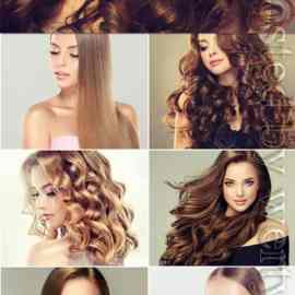 Girls with well-groomed skin and beautiful hair stock photo Free Download