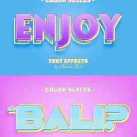 GraphicRiver Color Slice Text Effects 27064606 Free Download