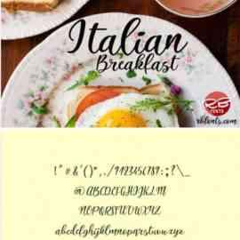 Italian Breakfast Script Font 201021 Free Download