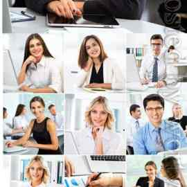Men and women working in the office stock photo Free Download