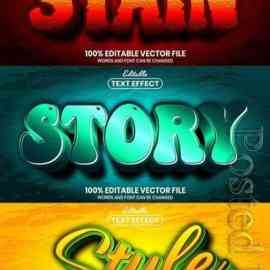 3d editable text style effect vector vol 844 Free Download