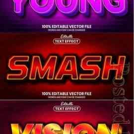3d editable text style effect vector vol 849 Free Download