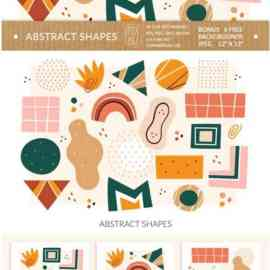 Abstract Shapes Clipart. Digital Prints. 4030764 Free Download