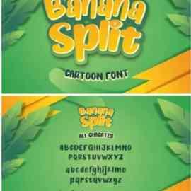 Banana Split Cartoon Font Free Download