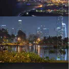 Beautiful backgrounds with night cities Free Download