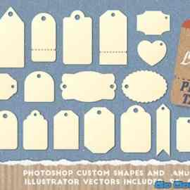 Gift Tag and Price Label Shapes Free Download