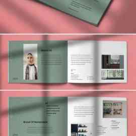 Hanabi Works Interior Brochure Indesign Template [24-Pages] Free Download