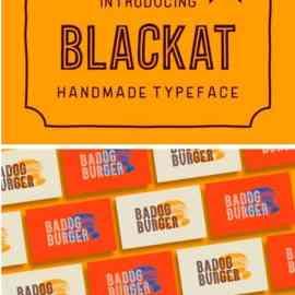 Blackat Display Font Free Download