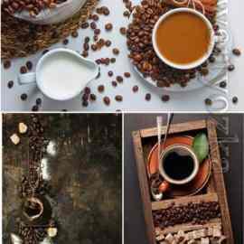 Coffee set 201 stock photo Free Download