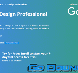 Coursera Google UX Design Professional Certificate Free Download