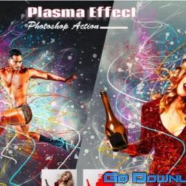 CreativeMarket Plasma Effect Photoshop Action 6199474 Free Download