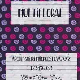 MultiFloral Summer Font 14 Free Download